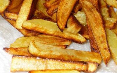 Frites light au four