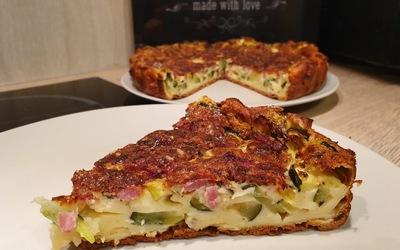 Clafoutis courgettes-lardons de bacon