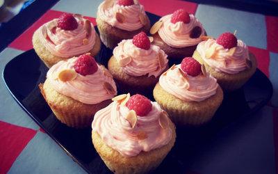 Cupcakes framboise/amande