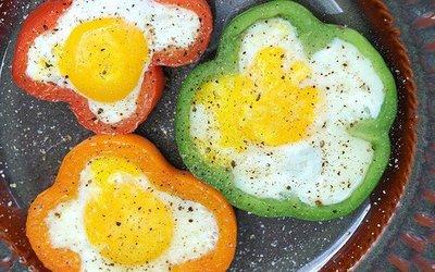 Poivrons aux œufs