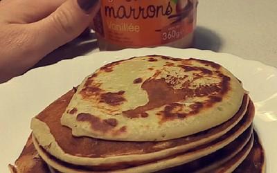Pancakes à la crème de marrons