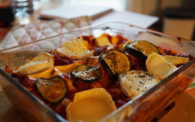 Lasagne à la bolognaise et courgettes