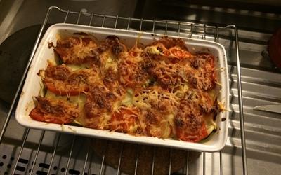 Gratin de courgette-tomate-mozzarella