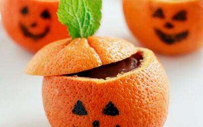 Mandarine Halloween au chocolat