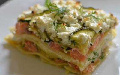 Lasagnes saumon/poireaux