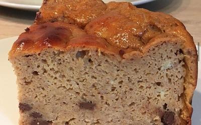 Bananabread farine d'arachide-chocolat