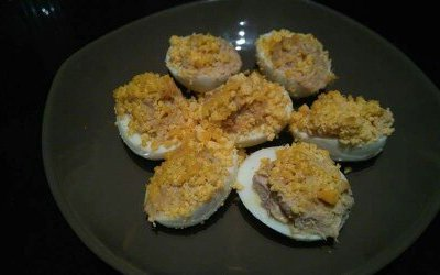 Les œufs mimosa au thon