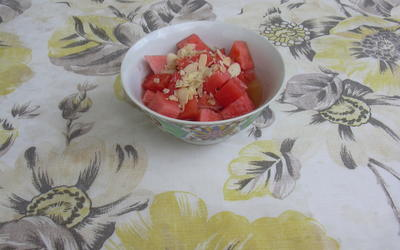 Salade de pastèque au thé