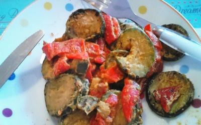 Courgettes et poivrons curry !
