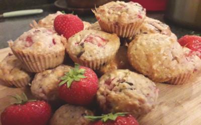 Muffins fraise et chocolat