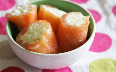 Roulés de saumon à la pomme