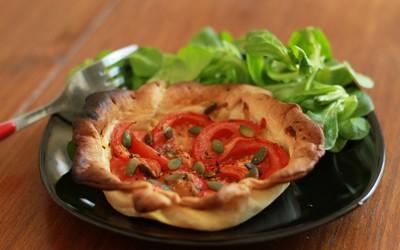 Tarte tomate-basilic (vegan)