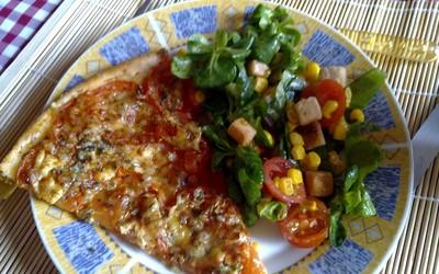Tarte a la tomate & au chèvre