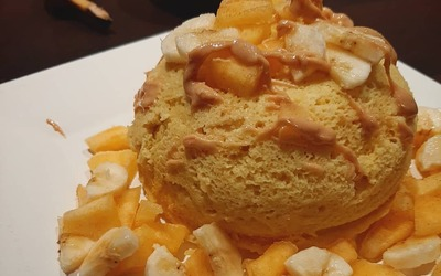 Bowlcake à la compote et au fromage blanc
