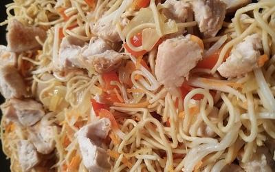 Nouilles au poulet