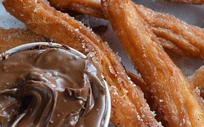 Soupe chocolat-noisette et churros