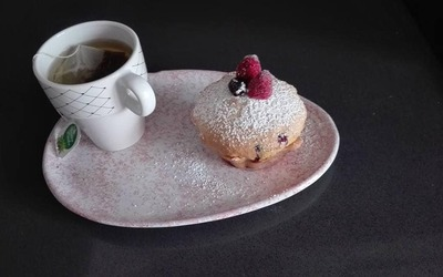 Muffin aux fruits rouge