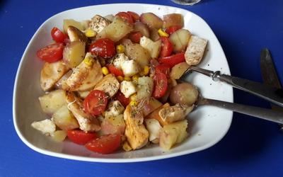 Salade poulet pomme de terre de Loulou