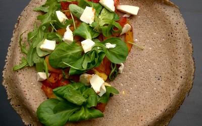 Galette aux tomates et poivrons