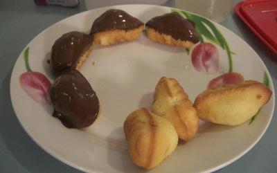 Madeleine croute chocolat