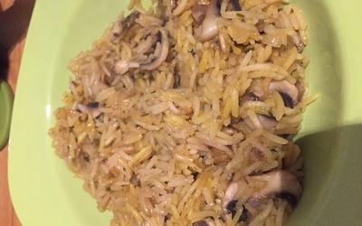 Risotto aux champignons épicé