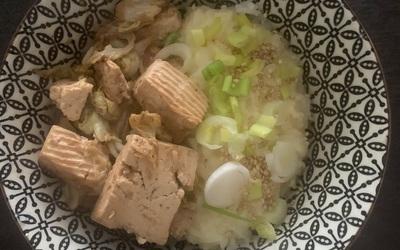 Riz au chou chinois et tofu