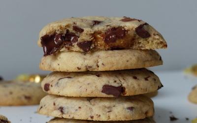 Cookies cœur coulant caramel