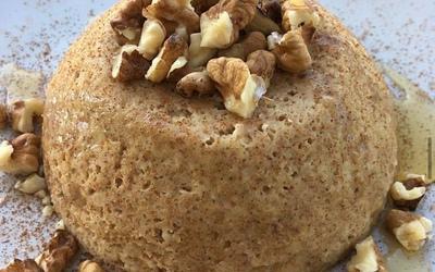 Bowlcake flocons d'avoine canelle, miel et noix