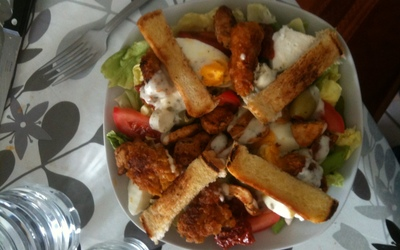 Salade  césar gourmande