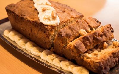 Cake banane beurre de cacahuète
