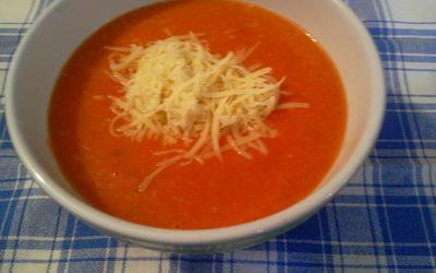 Velouté à la tomate et aux Lardons