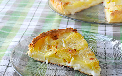 Tarte  cancoillotte et pommes de terre