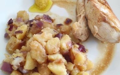 Poulet, Pomme de terre au beurre