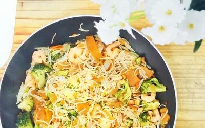 Pad thai de nouille au quinoa