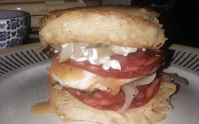 Burger façon galettes de pommes de terre