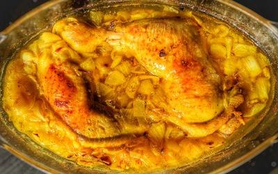 Cuisses de poulet express au four