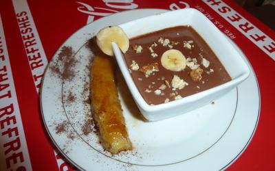 Banane flambée au Noilly Prat ambré crème Nutella