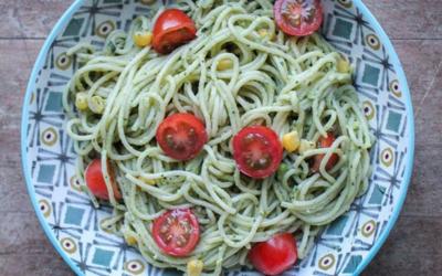 Spaghettis sauce avocat