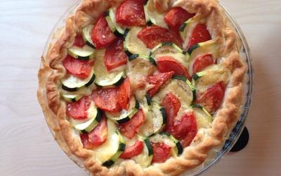 Tarte tomate-courgette-mozza