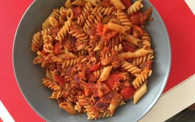 Pâtes sauce tomates-thon