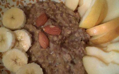 Porridge compote cannelle de l'automne !