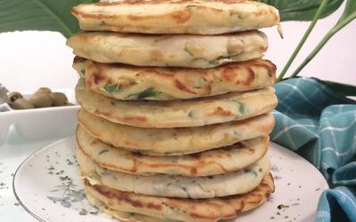 Pancake aux herbes