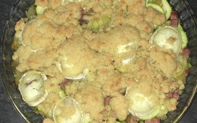 Crumble courgette-jambon-chèvre
