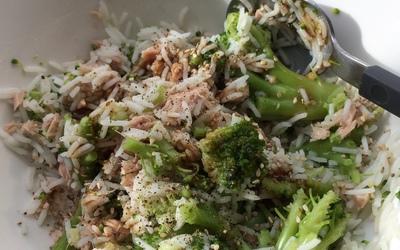 Riz au thon & brocolis à la japonaise.
