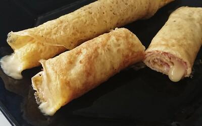 Crêpe Jambon Fromage (sans pâte à crêpes)