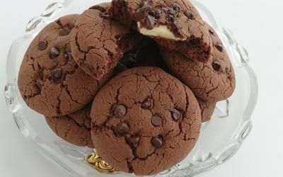 Cookies au Chocolat Coeur Chocolat Blanc