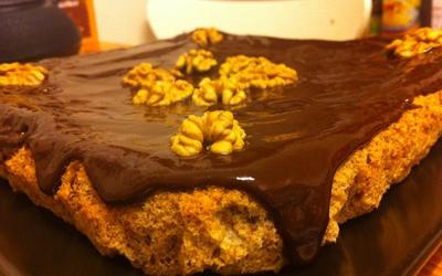 Gâteau aux noix et chocolat