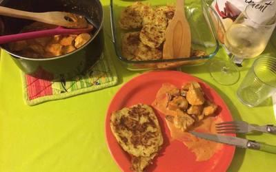 Poulet au chorizo et ses Röstis de Pommes de terre