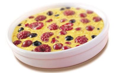 clafouti aux  fruits rouges (une tuerie!)