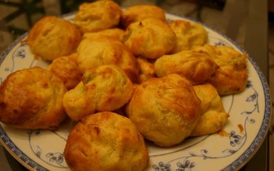 Chouquettes à la mimolette